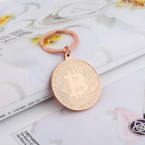 BITCOIN – Μεταλλικό Μπρελόκ – Cryptocurrency Bitcoin Rose Gold